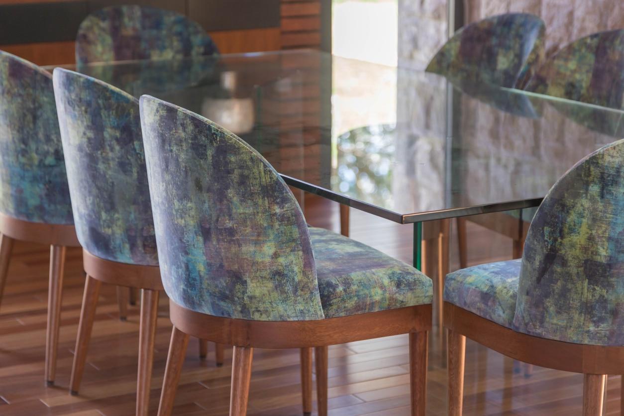 chaises chaise en tissu assise non déhoussable